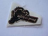 Наклейка s силиконовая надпись Nurburgring 50х32х1мм серебристая Нюрбургринг  гонки гоночная трасса, фото 3