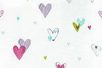"Ткань ""Love is love"" c сердечками для тюли"