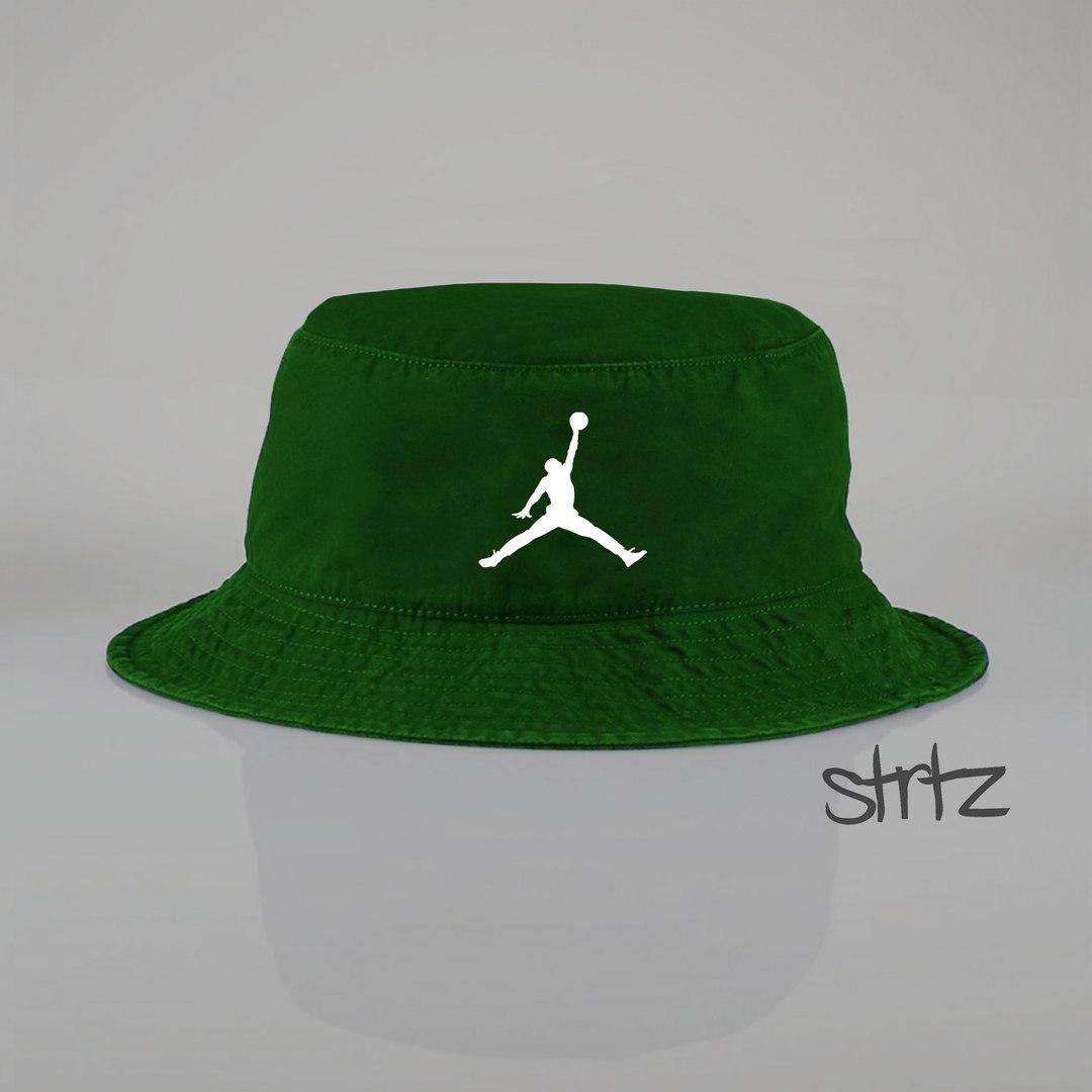 Панамка Jordan  зеленая (люкс копия)