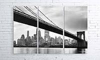 Модульная картина на холсте 3 в 1 Мост 100х150 см