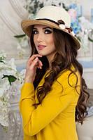 Летняя  соломенная двухцветная  шляпа Белинда