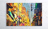 Модульная картина на холсте 3 в 1 Каир, Египет, рынок. 100х150 см
