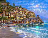 Картина-раскраска Средиземноморское побережье худ Роберт Финале (BRM7239) 40 х 50 см