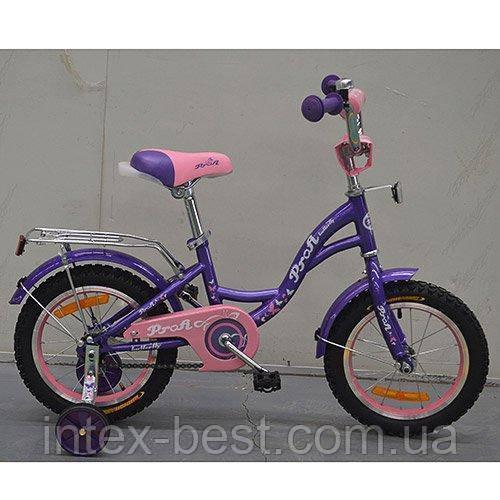 """Детский двухколесный велосипед Profi Butterfly Фиолетовый 14"""" G1422"""