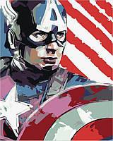 Рисование по номерам Капитан Америка (BRM8735) 40 х 50 см