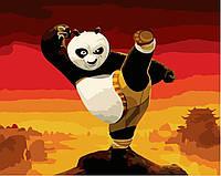Картина-раскраска Панда кунг-фу (BRM9970) 40 х 50 см