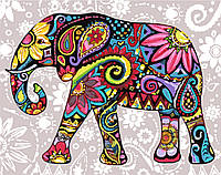Картина по цифрам Идейка Цветочный слон (KH2449) 40 х 50 см