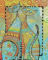 Картина по номерам Идейка Мозаичные коты (KH2445) 40 х 50 см