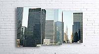 Модульная картина на холсте 3 в 1 Нью-Йорк 100х160 см (секции разного размера)