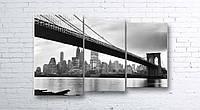 Модульная картина на холсте 3 в 1 Мост 100х160 см (секции разного размера)