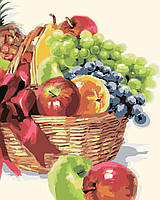 Живопись по номерам без коробки Идейка Корзинка фруктов Худ МакНейл Ричард (KHO2910) 40 х 50 см