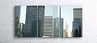 Модульная картина на холсте 3 в 1 Нью-Йорк 100х180 см