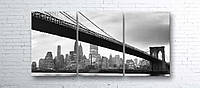 Модульная картина на холсте 3 в 1 Мост 100х180 см