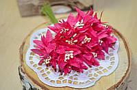 Букетик хризантемы (цена за букет из 12шт). Цвет - малиновый