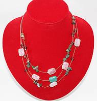 Кварц розовый с амазонитом (зелёный камень)