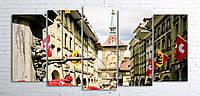 Модульная картина на холсте 5 в 1 Старый город, Берн, Швейцария 100х200 см (секции разного размера)