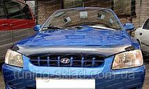 Дефлектор Хендай Акцент 2 (мухобійка на капот Hyundai Accent 2)