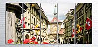 Модульная картина на холсте 5 в 1 Старый город, Берн, Швейцария 100х200 см
