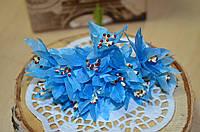 Букетик хризантемы (цена за букет из 12шт). Цвет - голубой