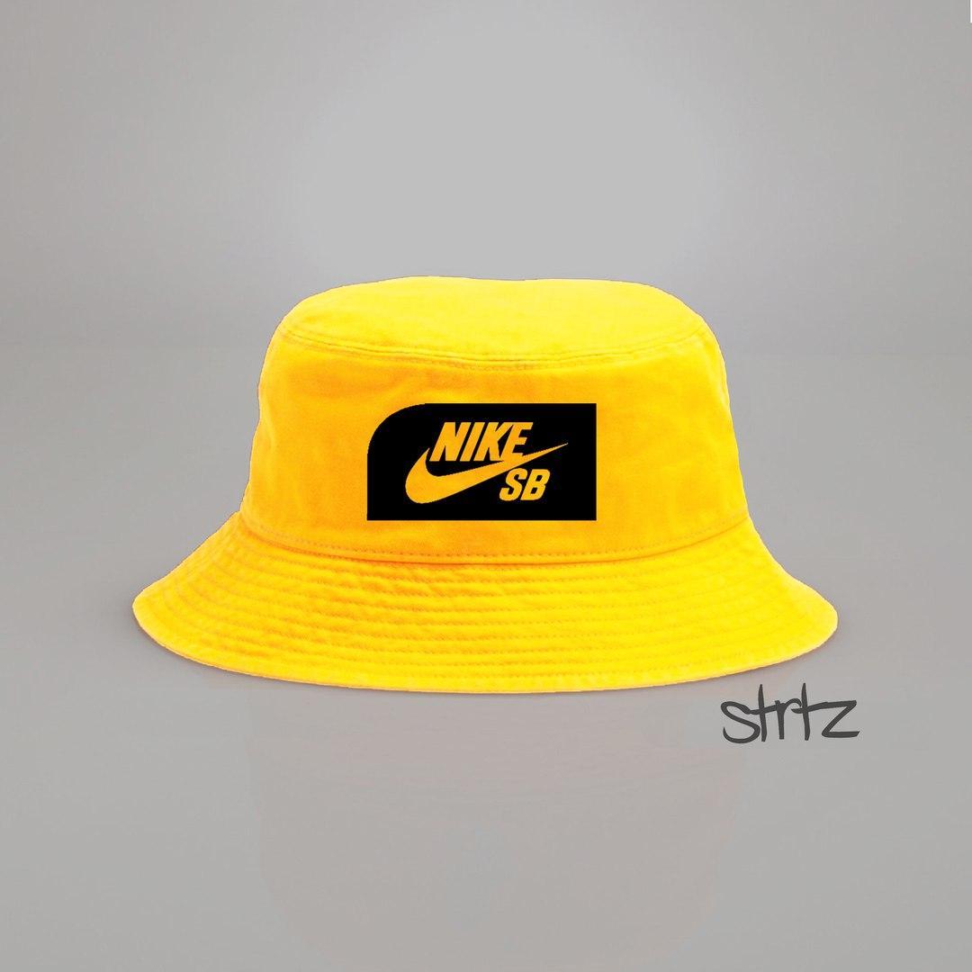 Панамка Nike SB желтая (люкс копия)