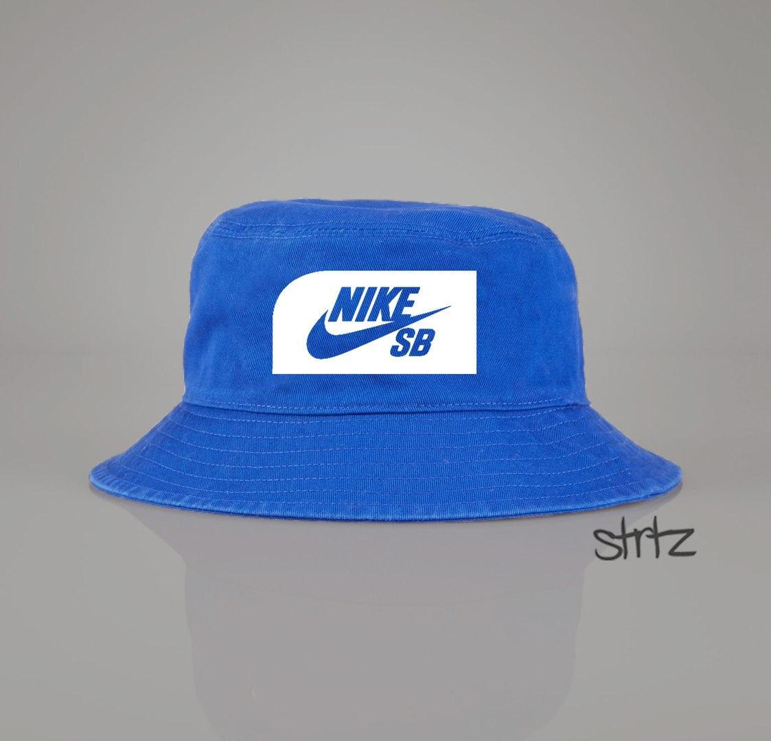 Панамка Nike SB голубая (люкс копия)