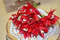 Букетик хризантемы (цена за букет из 12шт). Цвет - красный