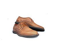 Мужские туфли Bumer K6 с натуральной кожи летние
