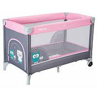 Манеж-кровать Baby Mix Sowa, pink