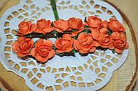 Розы (цена за букет из 12 шт). Цвет - оранжевый