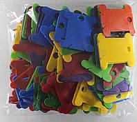 Шпули пластиковые (140 шт). Микс из 7 цветов, фото 1