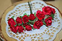 Букетик Розы (цена за букет из 12 шт). Цвет - красний