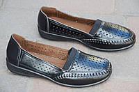 Мокасины, туфли женские летние черные искусственная кожа мягкие легкие 2017. Со скидкой