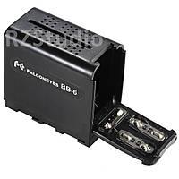 Батарейный блок FalconEyes BB-6 (адаптер, переходник 6 AA - NP-F)