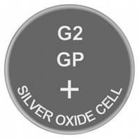 Батарейка часовая, серебро-цинк, Silver oxide G2 (397, SR59, SR726SW) GP 1.55V