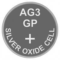 Батарейка часовая, серебро-цинк, Silver oxide G3 (392, SR41, SR41W) GP 1.55V