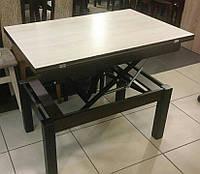 Стол транформер Флай комбинированый (Дуб шамони светлый/венге) журнально-обеденный