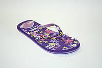 Вьетнамки фиолетовые в цветочек