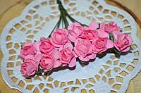 Розы (цена за букет из 12 шт). Цвет - розовый