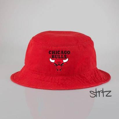 Панамка Chicago Bulls красная