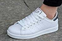 Кроссовки женские в стиле Adidas Stan Smith адидас легкие белые. Со скидкой