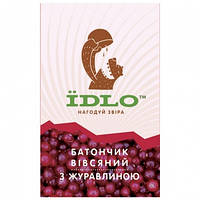 Батончик IDLO овсяный с клюквой (60г)