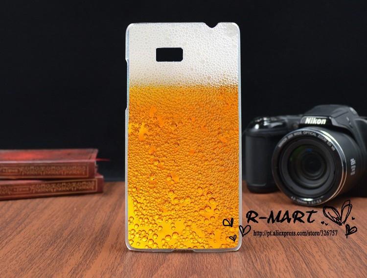 Силиконовый чехол для HTC Desire 600 с рисунком бокал пива