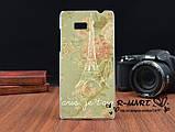 Силиконовый чехол для HTC Desire 600 с рисунком любовь рыбки и кота, фото 4