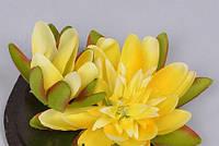 Лотос желтый 9см Цветы искусственные