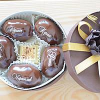 """Набор элитных шоколадных конфет """"Фрукты с орехом в шоколаде"""". Размер: Ø115х50мм, вес 195г, фото 1"""