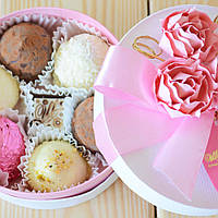 "Набор элитных шоколадных конфет ""К чаю"". Размер: Ø115х50мм, вес 125г, фото 1"