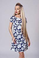 Летнее молодежное платье с цветами