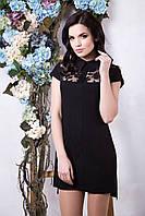 Модное черное платье Нино ТМ Irena Richi 42-48 размеры
