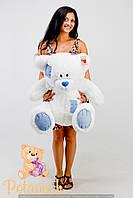Большой плюшевый мишка Тедди 100см белый