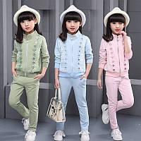 Детские нарядные (спортивные) костюмы для девочек. Новейшая коллекция 2017г.